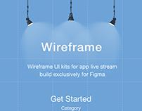 Free Live Stream App Wireframe UI Kits - Part 1