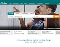 Redesigning of shiksha.com homepage