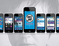 RADIO DEEJAY - Playlist Your Life. Music App Concept
