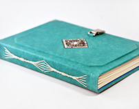 Leather book with custom pages