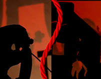 EL HILO ROJO Audiovisual técnica de sombras