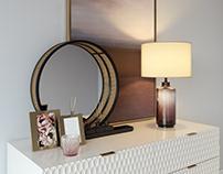 Westelm Audrey dresser with decor set. MODELS FOR SALE