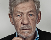 Sir Ian McKellen Portrait Sitting