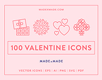 Line Icons – Valentines Day