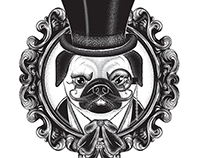 Pug Steam Punk Tattoo design