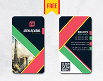 #free Vertical Business Card Design PSD