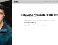 Zach Cossman site design