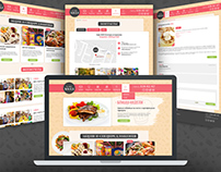 web site design for Cafe hall