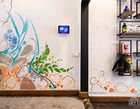Custom Facade with Matching Wall Art and Graffiti Thoro