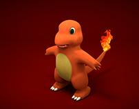 """Personaje de caricatura """"Pokémon"""" Carmander"""