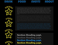 Star Bar Portland Website Prototype