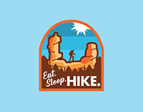 Eat. Sleep. Hike. Logo