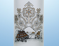 Karpathian vodka bottle printed by DanCo Decor