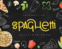 Spaghetti food font