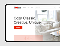 Hooga — furniture online store design