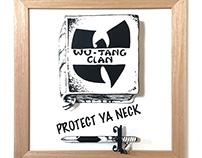 "PROTECT YA NECK ""2.5D"" -VINYL COVER WALL ART-"