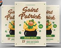 St. Patrick Irish Club Flyer Template