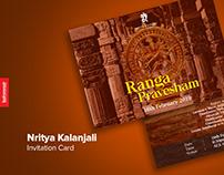 Nritya Kalanjali Invitation