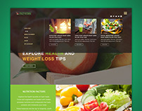 Nutritional Website Homepage Design