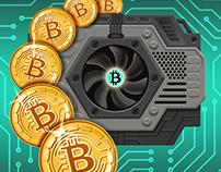 Bitcoin mining -illustration