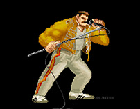 For Freddie Mercury / Pixel Art