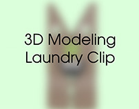 Laundry Clip 3D Modeling