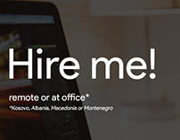 Hire me! Remote or at office