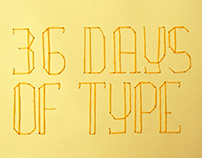 36 days of type . bordadinhos