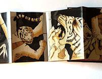Two Tigers (Accordion Art Book)