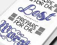 Hope for the Best: ballpoint pen lettering