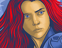 Black Widow Tribute Poster