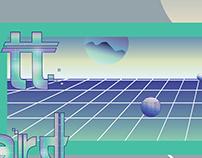 HPE mural illustration