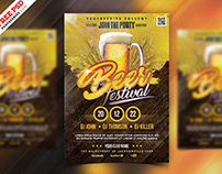 Beer Festival Flyer Template PSD