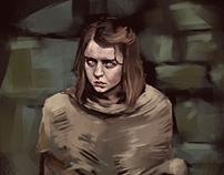 Arya Stark Painting