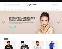 Genrre - Fashion ECommerce Bootstrap4 Template