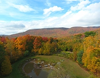 Catskill Mountains changing of the seasons