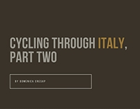 Domenica Cresap - Cycling Through Italy (Part Two)