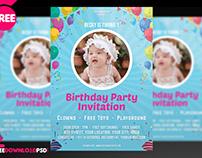 Birthday invite Flyer PSD