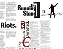 Newspaper Layout: The Running Stand