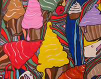 """""""Welcome to the Candy Shop"""" (acrylics,50x70,fine arts)"""