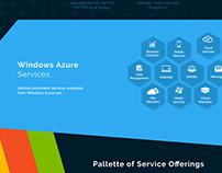 Windows Azure services page design