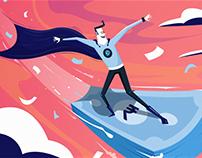 INSTAMOJO ~ Illustrations & Animation Project