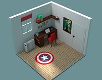 Simple Isometric Room