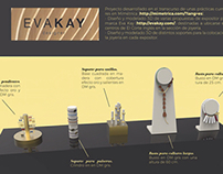Diseño de expositores para la marca Eva Kay