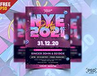 NYE 2021 Party Flyer PSD