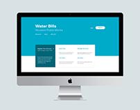 Houston Water Bills Redesign Concept