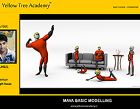 Basic Maya Modelling by Rahul !!