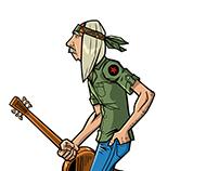 Hippie T-Shirt Illustration