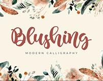 FREE | Blushing Modern Calligraphy Font