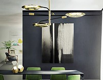 Hendrix Midcentury Modern Suspension Lamp